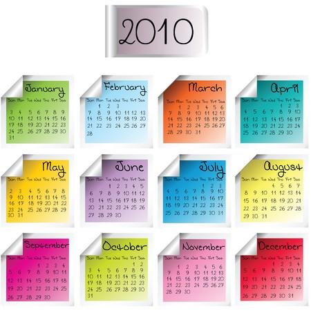 almanacs: Calendar for 2010