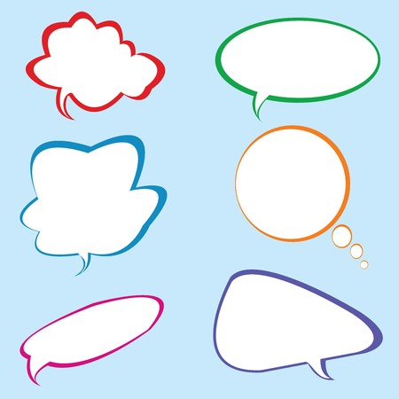 Chat bubbles in different colors photo