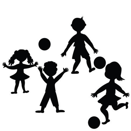 Niños jugando con pelotas  Foto de archivo - 7031872