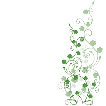 Background with clovers foliage for St. Patrick's Day Stock Photo - 7032013