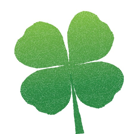 doted: Doted clover for St. Patricks Day Stock Photo