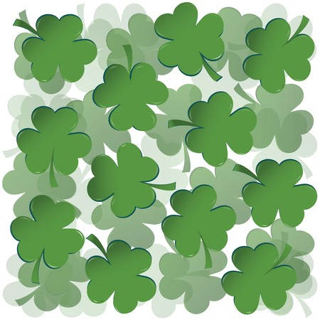 Background with clovers for St. Patrick's day Stock Photo - 7032243