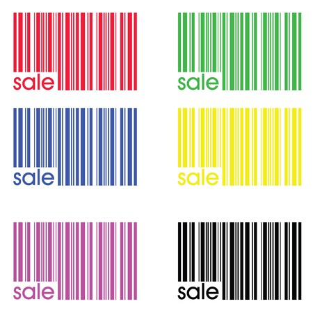 bar codes: Collection of colored bar codes