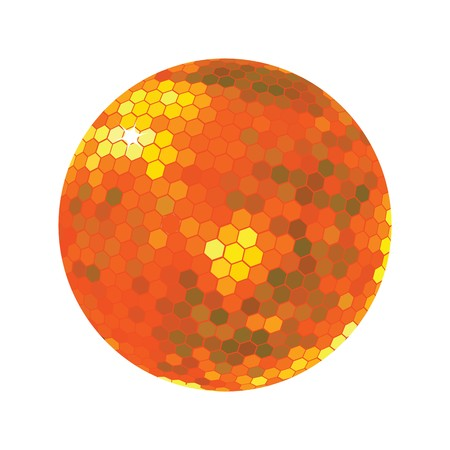 discoball: Discoball in orange tones