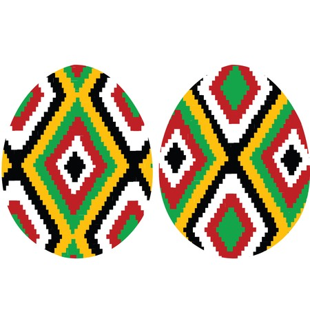 Easter eggs with ethnic motives photo