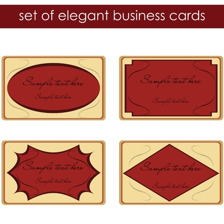 Elegant business cards, labels Stock Photo - 7032270