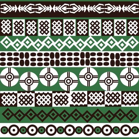 Ethnic African symbols background Stock Photo - 7032637