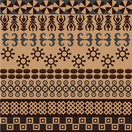 Ethnic pattern with african symbols and ornaments  photo