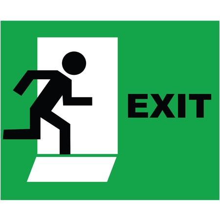 salida de emergencia: Icono de signo de salida de emergencia