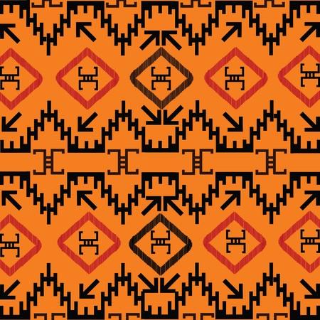 indigen: Indian texture in orange tones Stock Photo