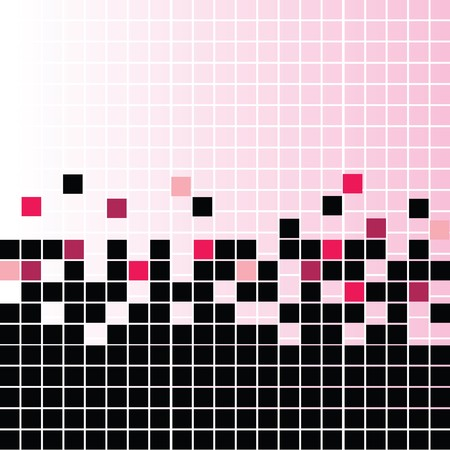 Mosaic with pink elements photo