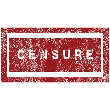 censure: Red rubber stamp with thw word censure Stock Photo