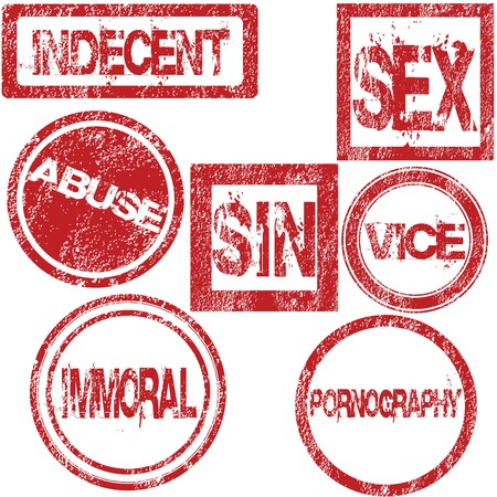 Red rubber stamps with sexual conotation Stock Photo - 7032874