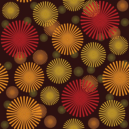 random: Retro background with abstract flowers