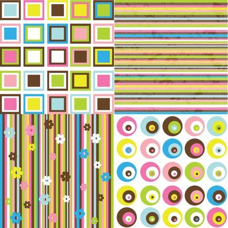 rayas de colores: Fondo retro