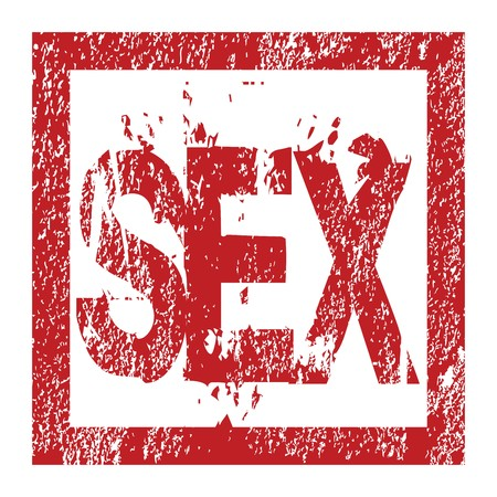 Rubber red stamp with sex Stock Photo - 7032723