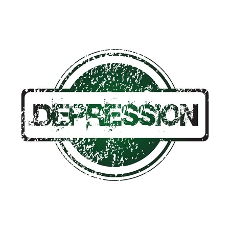 Rubber stamp with depression photo