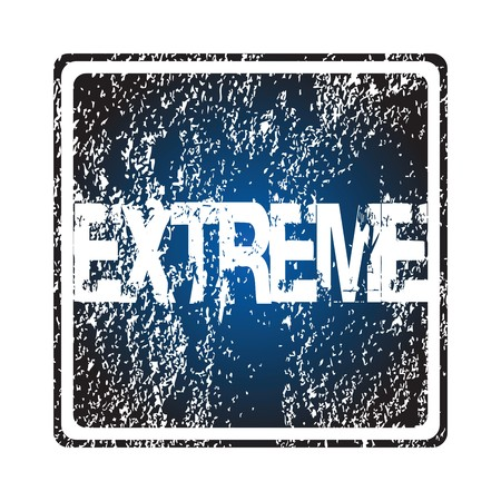 Rubber stamp with extreme Stock Photo - 7032651