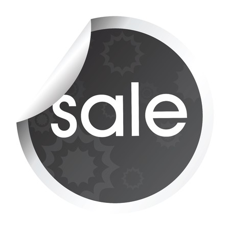 Beautiful decorated sticker with sale Stock Photo - 7031867