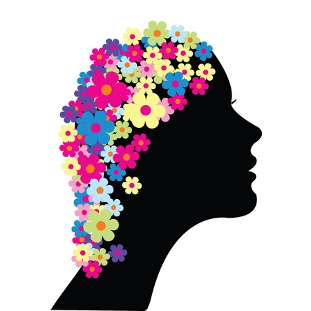 amative: Woman with flowers in her hair