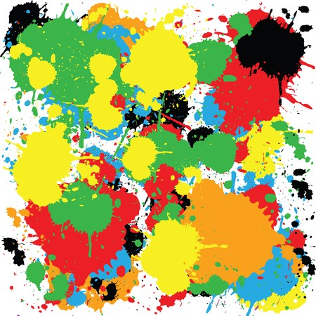 Abstract colorful background with ink spots Stock Photo - 7164203