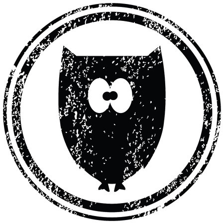 Black stamp with owl photo