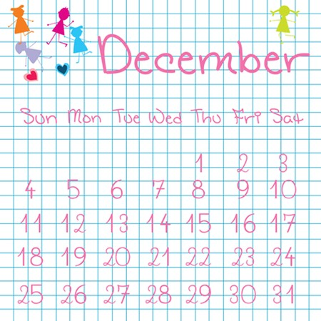 Calendar for December 2011 Stock Photo - 7164150