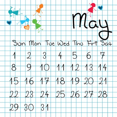 Calendar for May 2011 Stock Photo - 7164196