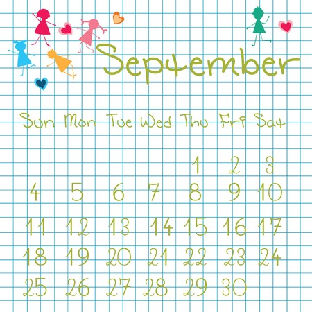 Calendar for September 2011 Stock Photo - 7164195