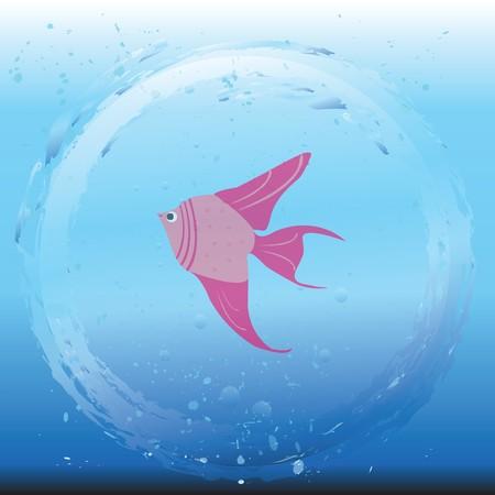 Beautiful representation of fish in water photo