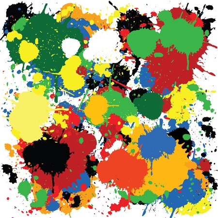Colorful paint splash design Stock Photo - 7321401