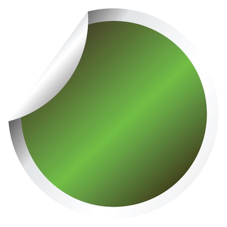 Green sticker Stock Photo - 7321272