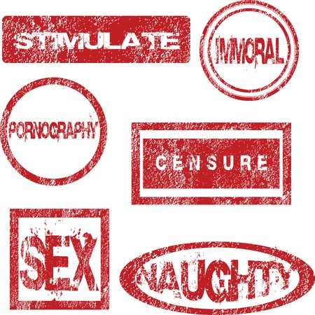 Red stamps with sexual meaning Stock Photo - 7321446