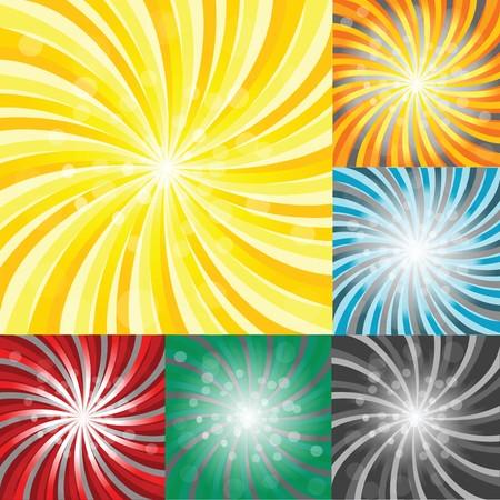 Set of sunbursts Stock Photo - 7321381
