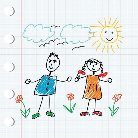cartoon doodle children Stock Photo - 7321376