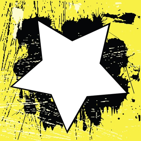 Yellow Grunge background with black spots Stock Photo - 7321359