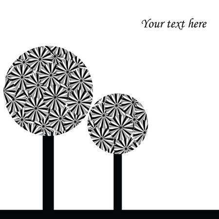 Illustration with abstract trees Stock Illustration - 7352851