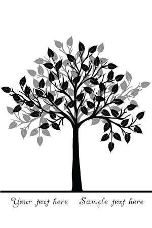 decision tree: Black tree Stock Photo