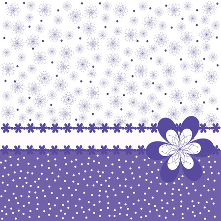 lovely: Card with purple flowers