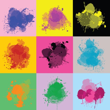 Sert of colorful splash Stock Photo - 7352846