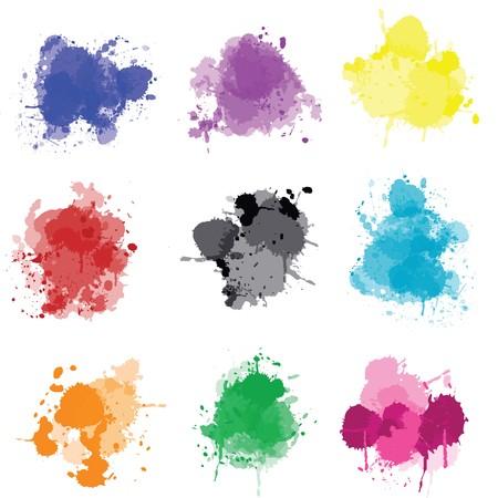 Set of colored splashes Stock Photo - 7352856