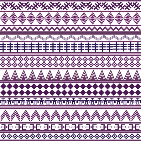 Background with geometrical shapes, purple African motives photo