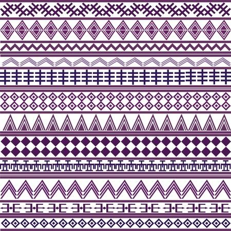 malacca: Sfondo con motivi africani di forme geometriche, viola