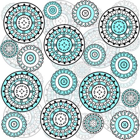 turqoise: background with turqoise circles Stock Photo