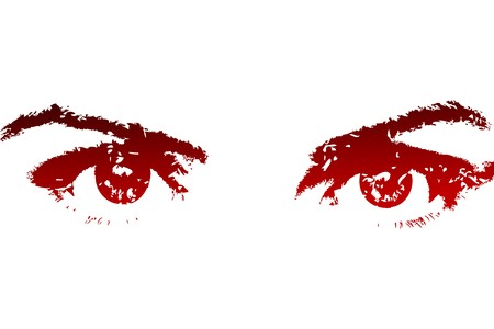 diable rouge: Yeux beautifull rouge