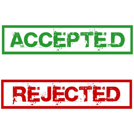 accepted: rejected and accepted stamps