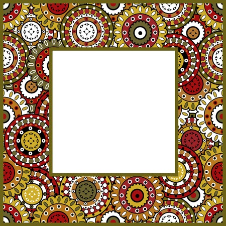 frame with oriental ornaments photo
