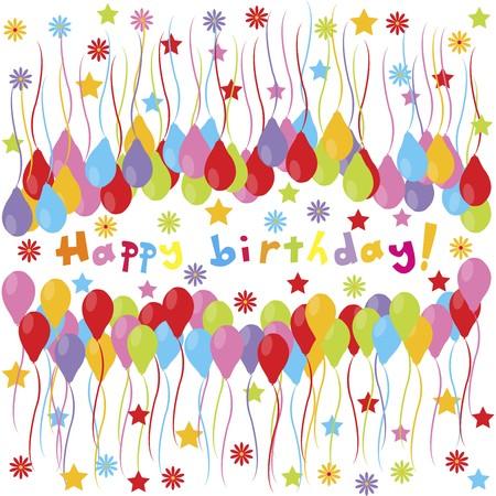 baloon: happy birthday banner