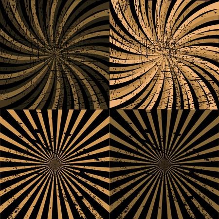 twirls: Set of brown twirls Stock Photo