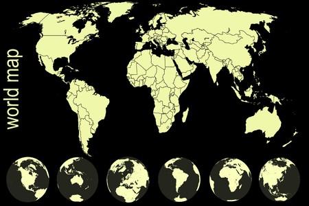 Yellow world map Stock Photo - 7783760